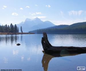 Puzzle de Lago Maligne, Canada
