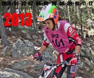 Puzzle de Laia Sanz, campeona del mundo de trial 2013