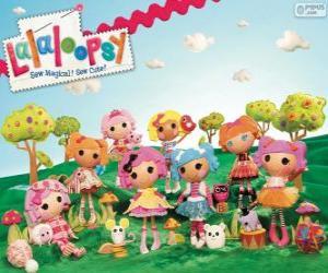 Puzzle de Lalaloopsy, las muñecas de trapo