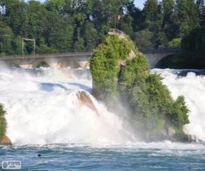 Puzzle de Las cataratas del Rin, Suiza