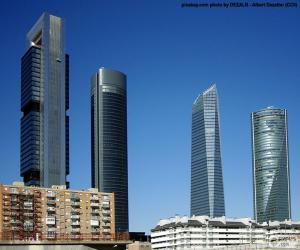 Puzzle de Las Cuatro Torres de Madrid