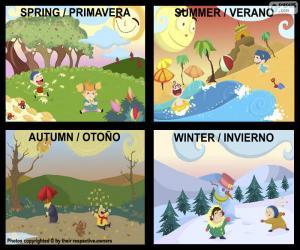 Puzzle de Las estaciones del año
