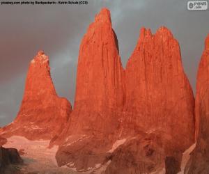 Puzzle de Las torres del Paine, Chile