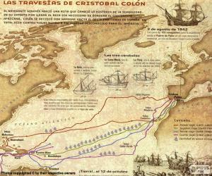 Puzzle de Las travesías de Colón