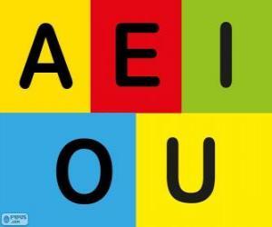 Puzzle de Las vocales A, E, I, O, U