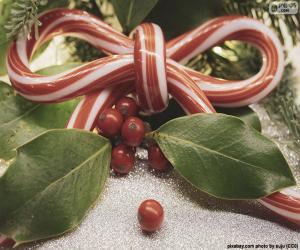 Puzzle de Lazo bastón de Navidad
