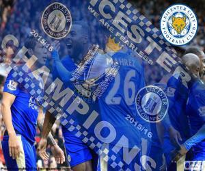 Puzzle de Leicester City,campeón15-16