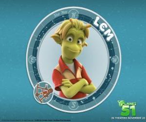 Puzzle de Lem es buen chico. A primera vista parece tímido pero bajo esa piel verde se oculta un verdadero héroe