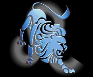 Puzzle de Leo. El León. Quinto signo del zodíaco. Nombre en latín es Leo