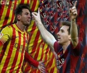 Puzzle de Leo Messi, máximo goleador de la historia del FC Barcelona