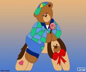 Puzzle de Letra A de osos