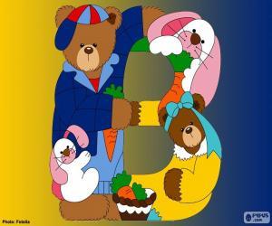 Puzzle de Letra B de osos