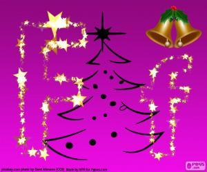 Puzzle de Letra F para la Navidad