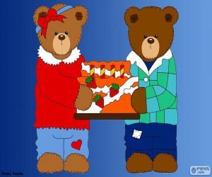 Puzzle de Letra H de osos