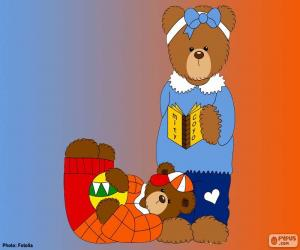 Puzzle de Letra J de osos