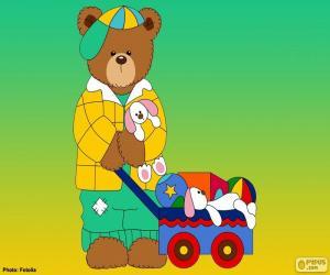 Puzzle de Letra L de osos