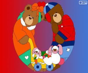 Puzzle de Letra O de osos