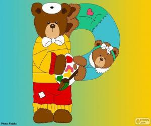Puzzle de Letra P de osos