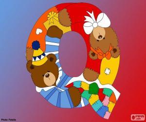 Puzzle de Letra Q de osos