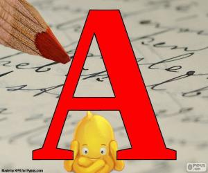 Puzzle de Letra rusa А