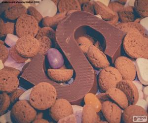 Puzzle de Letra S de chocolate