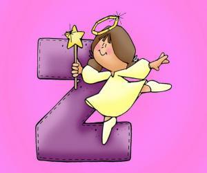 Puzzle de Letra Z con un ángel