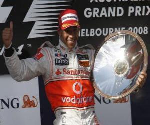 Puzzle de Lewis Hamilton en el pódium