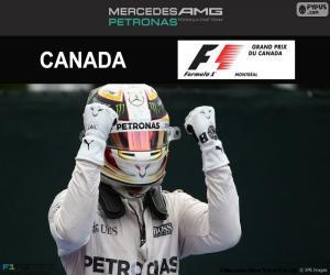 Puzzle de Lewis Hamilton, G.P Canadá 2016