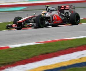 Puzzle de Lewis Hamilton - McLaren - Gran Premio de Malasia (2012) (3er Clasificado)
