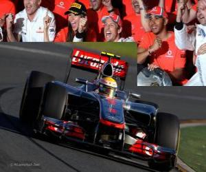 Puzzle de Lewis Hamilton - McLaren - Melbourne, Gran Premio de Australia (2012) (3er Clasificado)