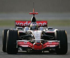 Puzzle de Lewis Hamilton pilotando su F1