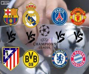 Puzzle de Liga de Campeones - UEFA Champions League Cuartos de final 2013-14