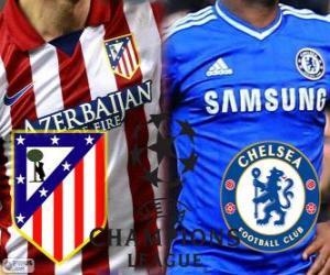 Puzzle de Liga de Campeones - UEFA Champions League semifinal 2013-14, Atlético - Chelsea