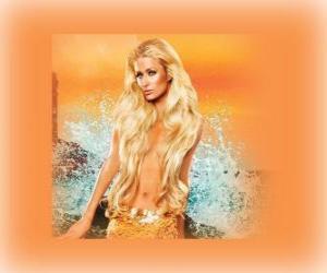 Puzzle de Linda sirena con su larga cabellera