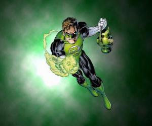 Puzzle de Linterna Verde, el superhéroe tiene un anillo de poder que es una de las armas más poderosas del universo