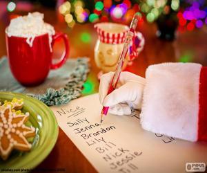 Puzzle de Lista de Papá Noel