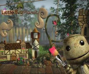 Puzzle de LittleBigPlanet, videojuego donde los personajes son muñecos llamados Sackboys o Sackgirls