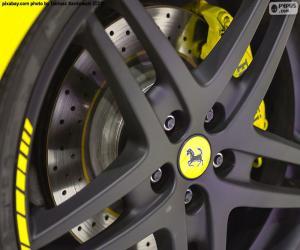 Puzzle de Llanta, rin o aro de Ferrari