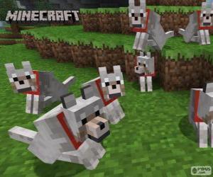 Puzzle de Lobos de Minecraft
