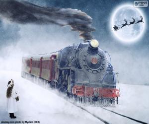 Puzzle de Locomotora de vapor de Navidad