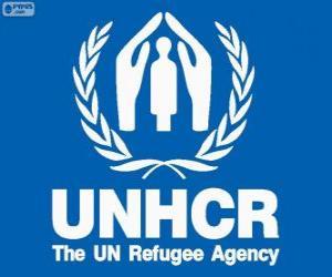 Puzzle de Logo ACNUR, Alto Comisionado de las Naciones Unidas para los Refugiados