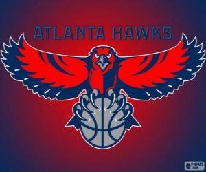 Puzzle de Logo de Atlanta Hawks, equipo de la NBA. DivisiónSureste,ConferenciaEste