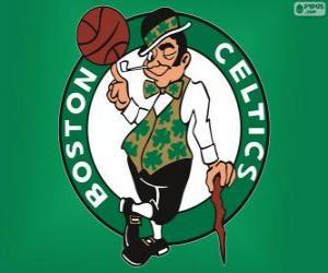 Puzzle de Logo de Boston Celtics, equipo NBA. DivisiónAtlántico,ConferenciaEste