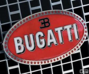 Puzzle de Logo de Bugatti, marca francesa de origen italiano