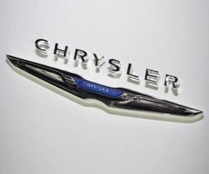 Puzzle de Logo de Chrysler. Marca de carros de los EUA