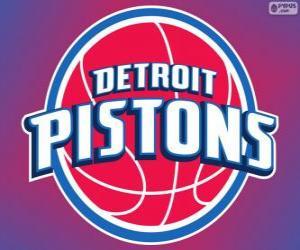 Puzzle de Logo de Detroit Pistons, equipo de la NBA. DivisiónCentral,ConferenciaEste