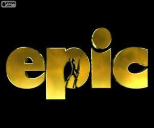 Puzzle de Logo de Epic. El Mundo Secreto