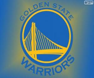 Puzzle de Logo de Golden State Warriors, equipo de NBA. DivisiónPacífico,Conferencia Oeste