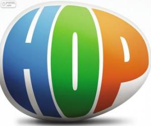 Puzzle de Logo de Hop, la película o Hop: Rebelde sin Pascua