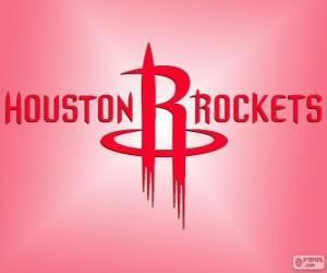 Puzzle de Logo de Houston Rockets, equipo de la NBA. DivisiónSuroeste,Conferencia Oeste